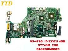 Original for ACER V5-472G laptop motherboardV5-472G I5-3337U 4GB GT740M 2GB DA0ZQKMB8E0 tested good free shipping