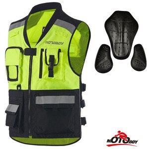 Image 4 - גברים נראות גבוהות רעיוני מוטוקרוס מירוץ אפוד בטיחות לילה רכיבה מעילי אופנוע אופנוע אפוד עם מגיני
