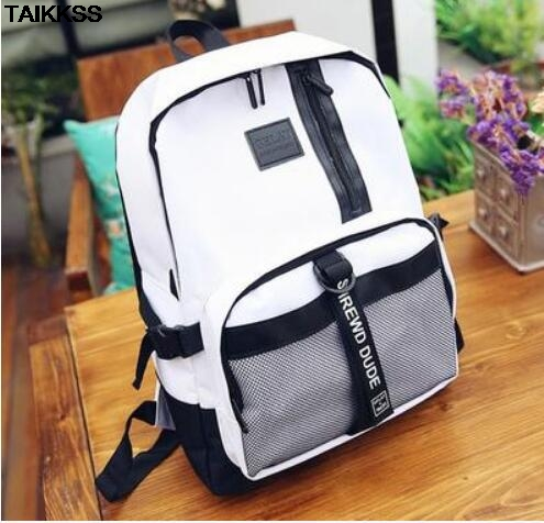 2018 Women Men Canvas Backpacks Large School Bags For Teenager Boys Girls Travel Laptop Backbag Mochila Rucksack Grey