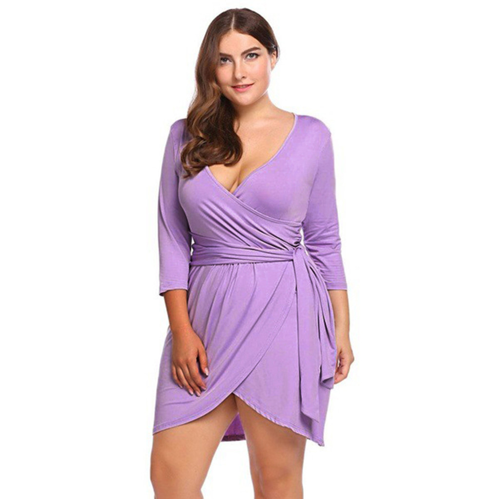 Aggressive Feitong Plus Size Vintage Dress Office Ladies Sexy New Fashion Summer Dress With Belt Elegant Party Dresses Vestidos 2019 Curing Cough And Facilitating Expectoration And Relieving Hoarseness Women's Clothing