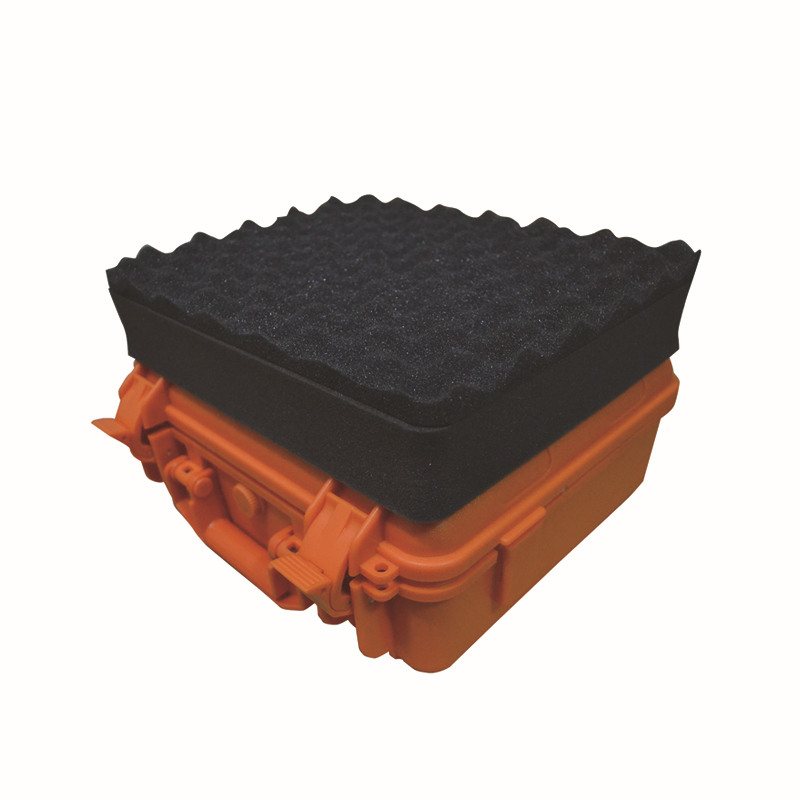 Orange color Durable ABS plastic toolbox with full foam inside high quality shipping case with full foam inside