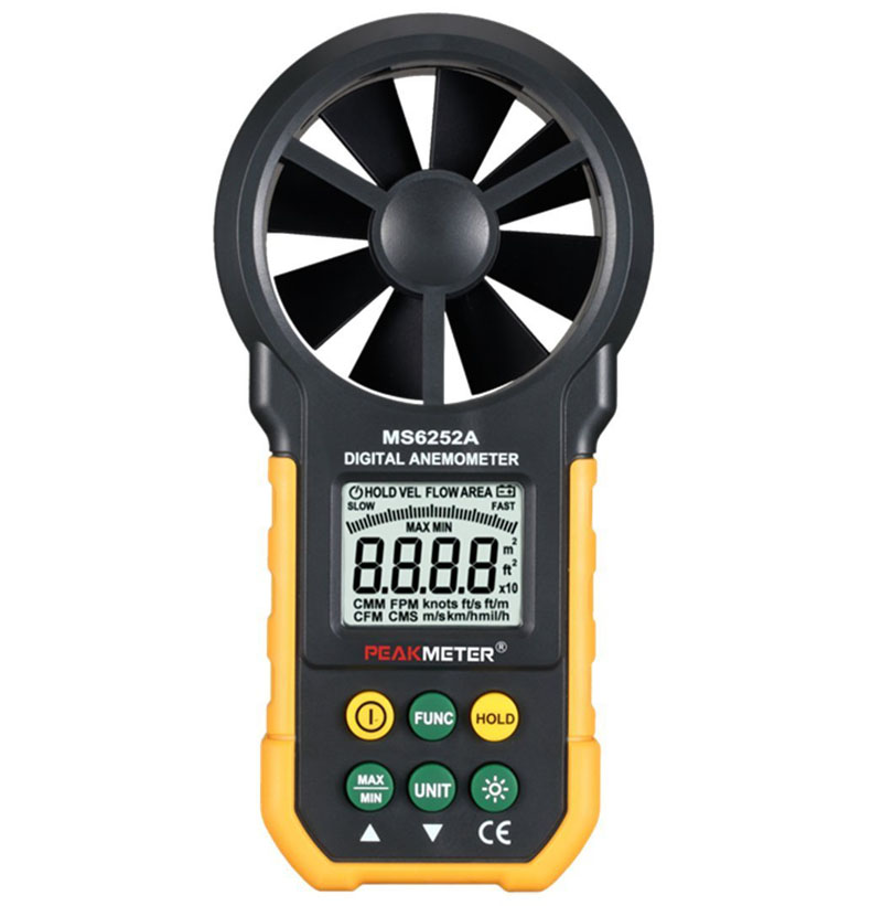 MS6252A Digital Anemometer Handheld LCD Electronic Wind Speed Air Volume Measuring Meter With Backlight  цены