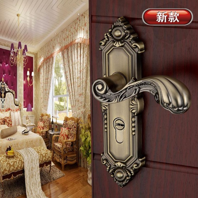 10pcs For Nikolay Nikolaev Antique Brass Europe Style Vintage Door Handles Door  Knobs Pulls Hardware Accessories