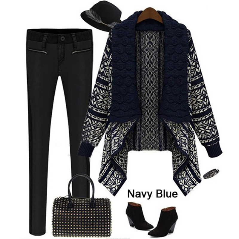 Women Autumn Ladies Knitted Cardigan Casual Outwear Sweater Jacket ...