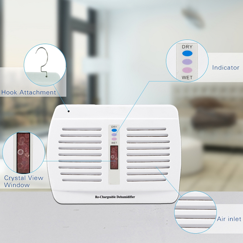 GXZ Rechargeable Mini Dehumidifier For Home Reusable Dehumidifier Box Desiccant Clothes Wardrobe Dryers Moisture Absorber the wardrobe desiccant dehumidifier to remove odor