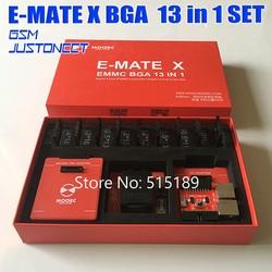 2019  MOORC Emmc box  E-MATE X E MATE PRO BOX EMMC BGA 13 IN 1 SUPPORT 100 136 168 153 169 162 186 221 529 254 Free shipping