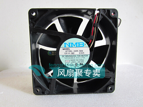 The original NMB 4715KL-04W-B26 12cm120*120*38 12v0.52A 3 line cooling fan 10L5574 цена