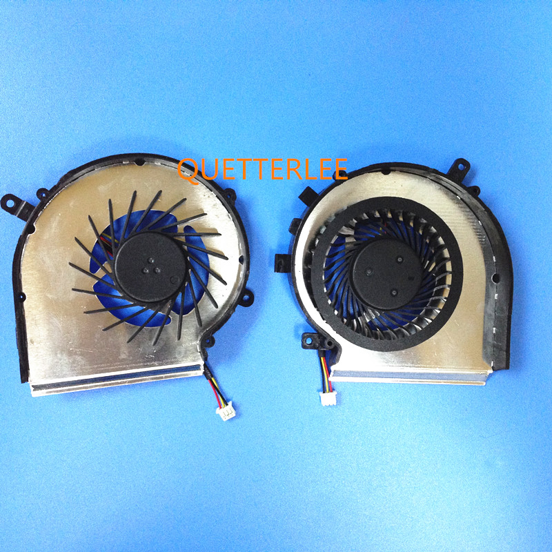 Pair for New CPU Cooling Fan For MSI GE72 GE62 PE60 PE70 GL62 GL72 CPU FAN PAAD06015SL 3pin GPU COOLER new free shipping pair fan laptop gpu and cpu cooling fan for msi gs60 paad06015sl 0 55a 5vdc n293