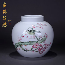Jingdezhen porcelain hand-painted blue and white porcelain vase flower arrangement antique home furnishings ornaments ornaments