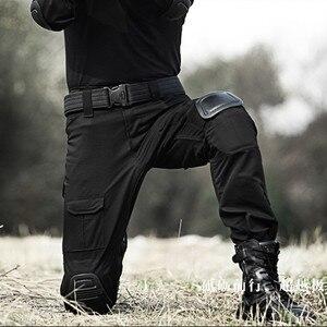 Image 5 - Taktik Pantolon Erkekler Askeri Kamuflaj Pantalon Kurbağa Kargo Pantolon Diz Pedleri Iş Pantolon Ordu Avcı SWAT Savaş Pantolon