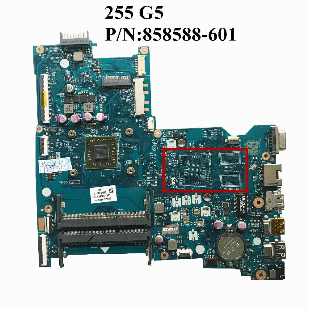 Excellent For HP 255 G5 Laptop Motherboard DDR3 858588 601 BDL51 LA D711P 100 working