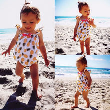 baby girl bodysuit 2016 wholesale cute pineapple baby girls clothes bodysuit summer outfit 0-24M