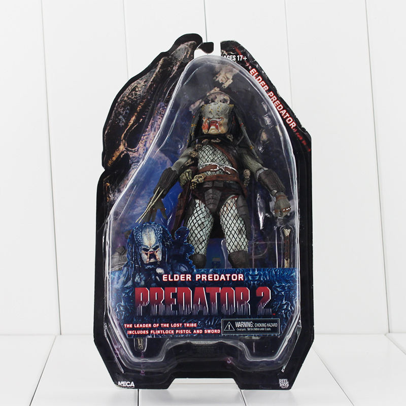 1pcs 18cm Alien vs Predator Toys Jungle Hunter Predator Toy ELDER PREDATOR PVC Action Figure Model Alien Dolls saintgi alien covenant alien vs predator alien pvc 19cm animated action figure collection model dolls kids toys