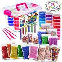 52 Pack/Lot Slime moelleux Kit 24 couleur Slime fournitures cadeaux pour enfants Kit de bricolage jeu sensoriel soulagement du Stress jouet extensible doux pour les enfants