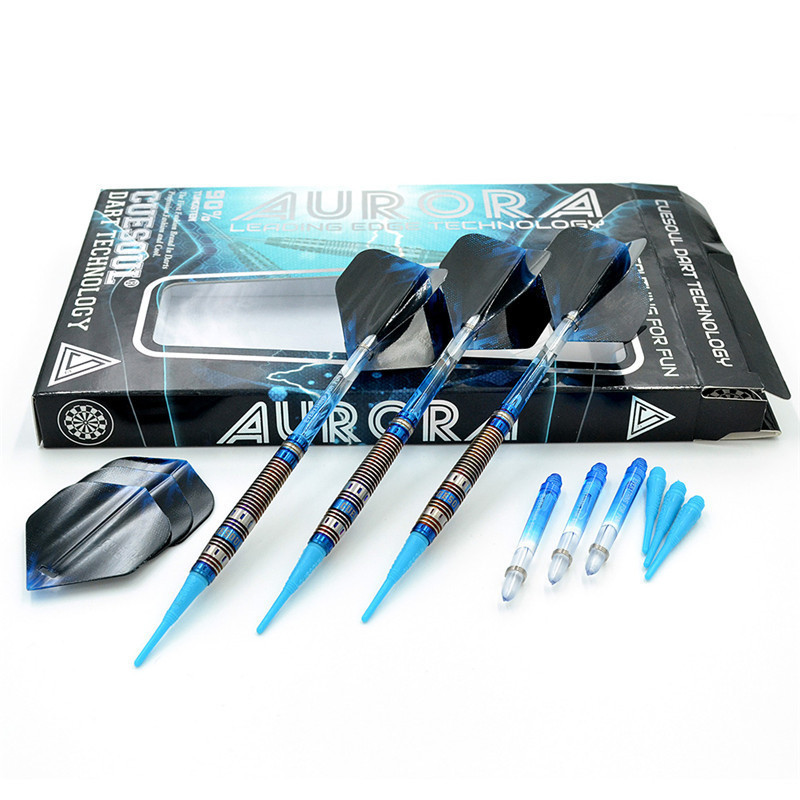CUESOUL Professional Electronic Soft Tip Darts With 90% Tungsten Darts Body 20g 14cm Darts Blue Color cuesoul professional electronic soft tip darts with 90