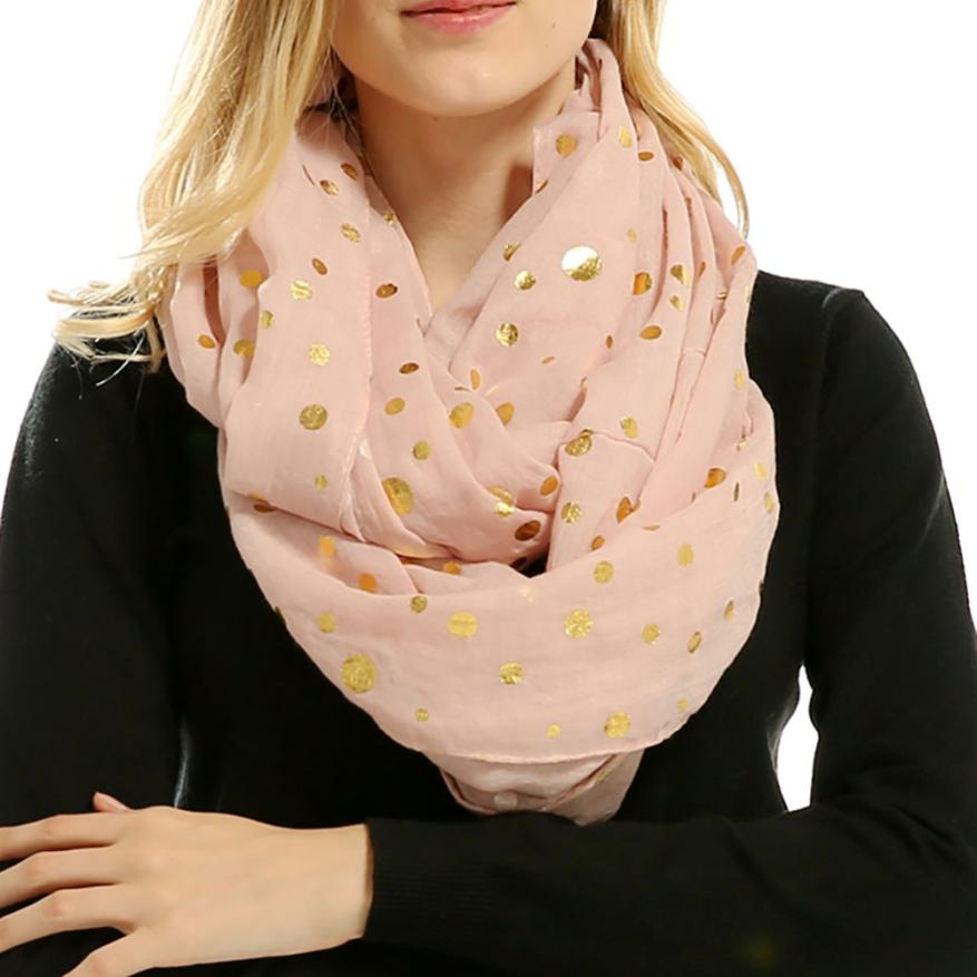 Women Soft Warm Dot Print Neck   Scarf     Wrap     Scarves   and Shawls for girl lady 6.28