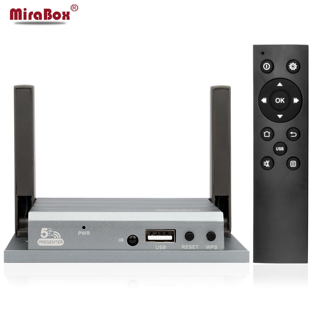 WiFi HDMI VGA Wireless Mirroring Presenter For Miracast/Allshare Cast/Windows Widi/DLNA Mirabox Presenter For Meeting Education new car wi fi mirrorlink box for ios10 iphone android miracast airplay screen mirroring dlna cvbs hdmi mirror link wifi mirabox