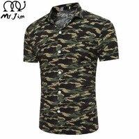 MR JIM 2017 New Men Hawaiian Short Sleeve Beach Shirt Male Printed Casual Shirts Summer Stripe