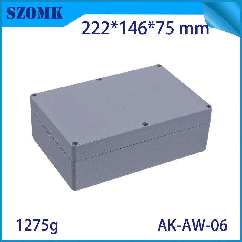 Алюминиевый цветной водонепроницаемый наружный электрический распределительный ящик Всепогодный Алюминиевый корпус проекта корпуса пит