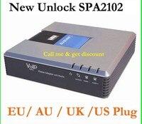 Бесплатная доставка Orignal разблокирована linksys spa2102 voip адаптер с маршрутизатором voip ворота способ звонок бесплатный