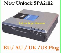 Free Shipping Orignal Unlocked Linksys SPA2102 VoIP Adapter With Router VoIP Gate Way With Retailbox