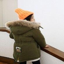 2016 Kids Imitation Lamb Coats New Winter Girls Cotton Jackets Toddler Genuine Fur Collar Outerwear Thicken
