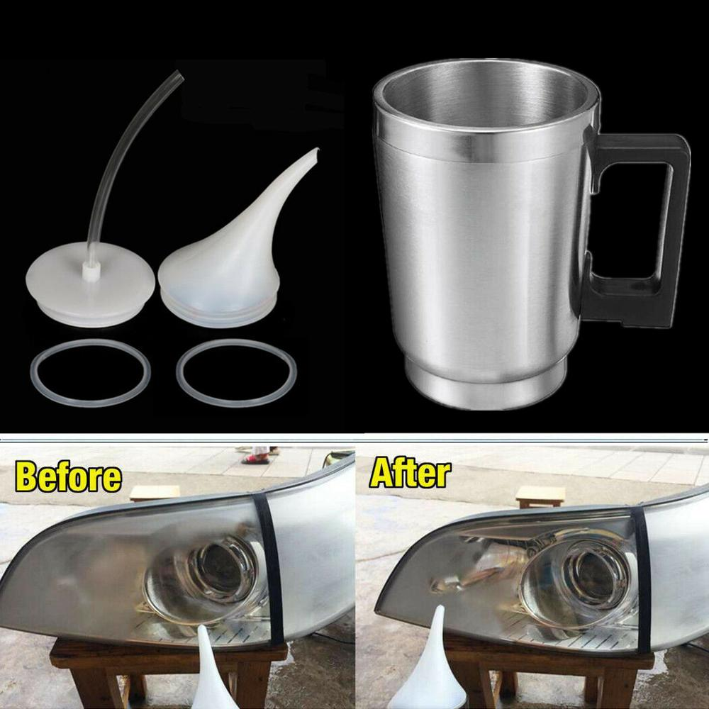 Car Headlight Renovation Atomizing Cup Set Evaporation Heating Cup Lid Tool Refurbished Atomizing Cup Restoration Of Headlights