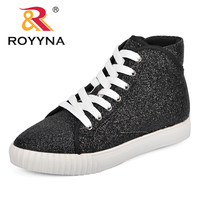 48ae89fa ROYYNA New Designer Women Sneakers 2018 Fashion Breathble Vulcanized Shoes  Platform Lace Up Casual Shoes Tenis