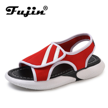 Fujin Sandals Female Student Dropshipping Summer 2019 New Flat Bottom Wild Thick Casual Bow Simple Fish Mouth Shoes