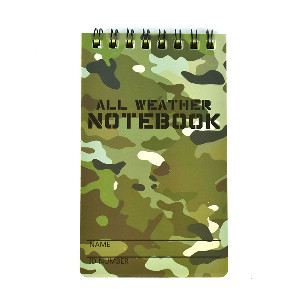 Tactical Note Book All-Weather All Weather Notebook Waterproof Writing Paper In Rain