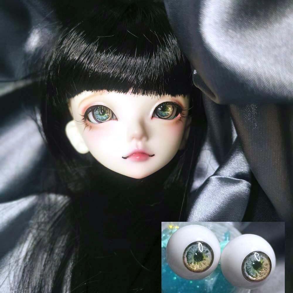 Dark Rosy Flower Eyeball Bjd Eyes 1/4 1/3 1/6 1/8 Girl Boy BJD/SD SD MSD Round Plastic BJD Doll Accessories Bjd 1/12 14 16 18 Mm