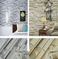 High-Class Real Looking Embossed Textured Brick Pattern Wallpaper Rolls TV Wall