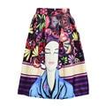 2016 European Station Jacquard Beauty Floral Printed Mini Skirt CA832