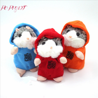 2017 Talking Hamster Touchcare 15CM Talking Hamster Mouse Pet Plush Toy Learn To Speak Electric Record