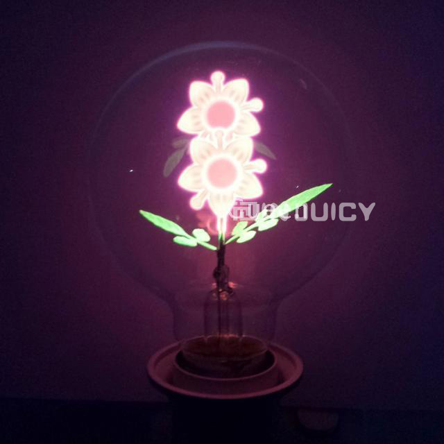 G80 10PCS/LOT E27 Sun Flower Fire Halogen bulb Edison Retro Tungsten Carbon Filament Light For Gift Birthday Chrismas Bar