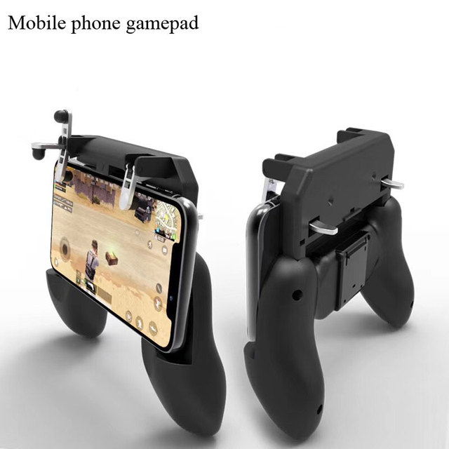 For PUBG mobile phone controller gamepad with real triggers and unconnected physical keys for 4.5~6.5 inch Android/ Iphones