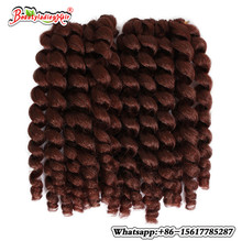 8 75g Jumpy Wand Curl Ombre Kanekalon Synthetic Braiding Hair Extensions African Jamaican Bounce Crochet Braids