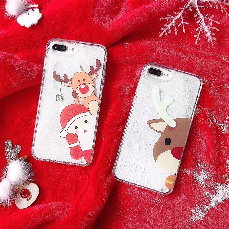 Christmas Phone Case Iphone 7.Christmas Phone Cases For Iphone 7 X Case For Iphone 6 6s 7 8 Plus Xr Xs Max Hard Plastic Case New Year Gift Phone Cover