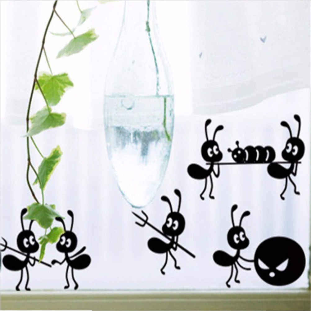ارتفاع الفينيل بولي كلوريد الفينيل الكرتون الديكور ملصقات الزجاج النمل ملصقات ديكور المنزل 6 سنتيمتر