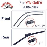 Partsworld Avant Et Arrière Lames D'essuie-Glace Pour VW Golf 6 2008-2014 Nature En Caoutchouc Pare-Brise Essuie-glaces De Voiture Accessoires Lunettes brosses