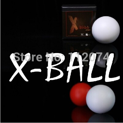 X Ball (White/Red Color Available),Shell of One to Four Ball Magic Tricks Stage Magician Accessories Gimmick,Props,Illusion
