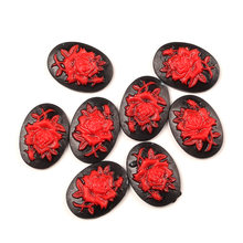 20Pcs Black Flatback Red Skull Resin Decoration Crafts Beads Flatback Cabochon Scrapbook DIY Embellishments Accessories(China)