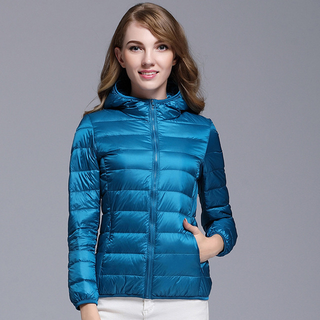 18a233332 US $28.48 25% OFF|2017 Winter New Women's Down Coats Warm and Warm Ladies  Jackets & Coat Slim Warm and Comfortable High Quality Multi color S M L-in  ...
