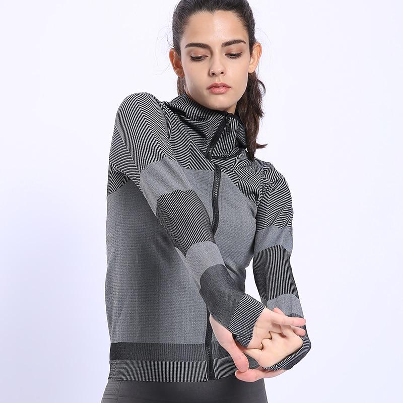 BINAND Women Profession Jogging Sports Nylon Hoodie High Elastic Tight Sweat-wicking Slim-fit Gym Fitness Hooded Sweatshirts