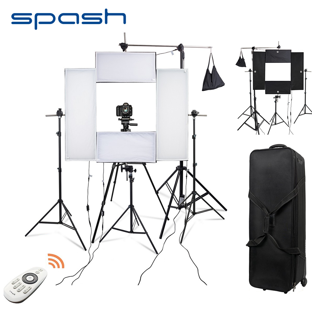Spash 4 Set fotografia oświetlenie LED na sesja zdjęciowa 5500K CRI95 portret lampa wideo oświetlenie studyjne zestaw ze statywem