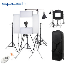 spash 4 Set Photography Lighting LED Light for Photo Shoot 5500K CRI95 Portrait Video Lamp Studio Lighting kit with Stand Tripod
