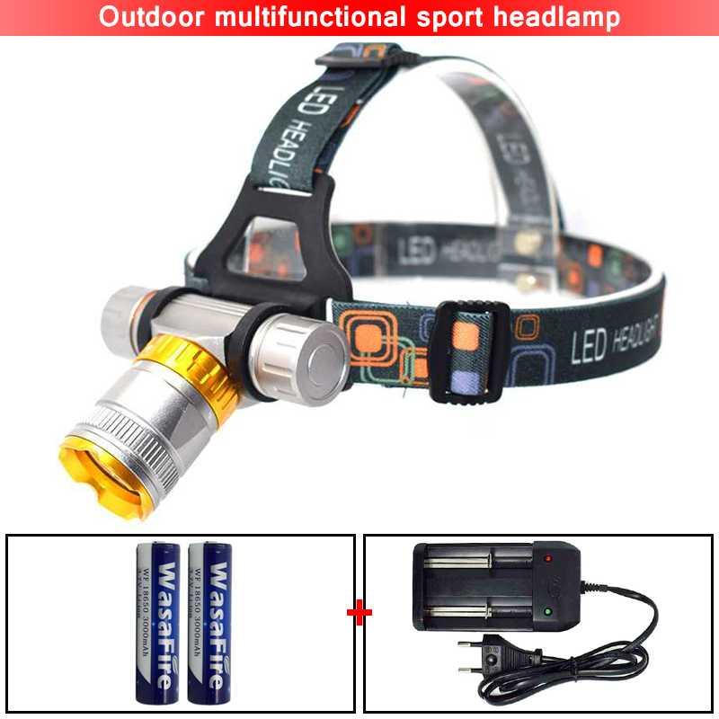 Wasafire LED lampe de Poche Front XML-T6 de Plongée Phare de Phare Étanche Lampe Lumière 18650 Batterie Torche Lanterne