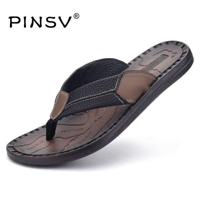 e3c6232463709e Sommer Sandalen Männer Sommer Schuhe Marke Flip Flops Herren Sandalen  Wohnungen Offene spitze Strand Hausschuhe Für
