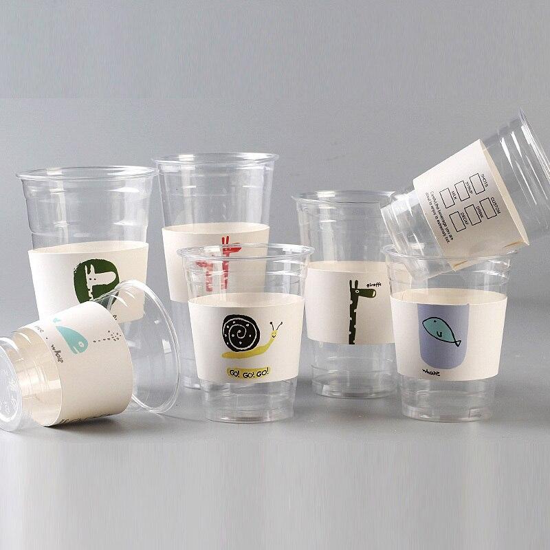 Ev ve Bahçe'ten Kullan At Parti Sofrası'de 500 Adet Tek Kullanımlık kupa kılıfı Tek Kullanımlık Bardaklar Için Karikatür Beyaz Karton Kahve çay suyu kupa kılıfı Ayarlanabilir Boyut Özelleştirilmiş'da  Grup 1