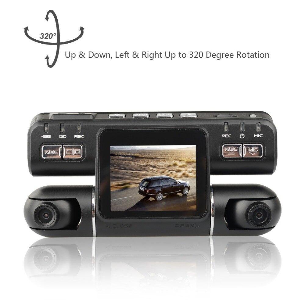 Dual Lens Car DVRs Camera Novatek WDR AR0330 6G Lens Full HD 1080P 150 Degree angle +120 Degree Video Recorder Dash Cam